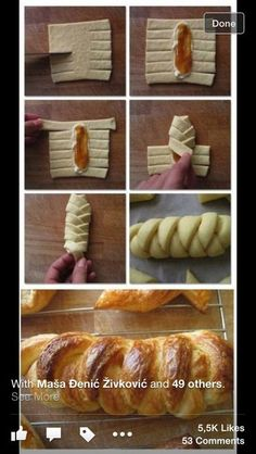 56 Gorgeous from Each Other of Homemade Pastries, Easy Food Decorations - Delicious Food Kids Pastry Recipes, Cooking Recipes, Pan Relleno, Pastry Design, Bread Shaping, Homemade Pastries, Bread And Pastries, Arabic Food, Creative Food