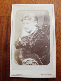 Carte de Visite of woman lost in thought. £1.50 #victorian #cartedevisite #ephemera #photographs
