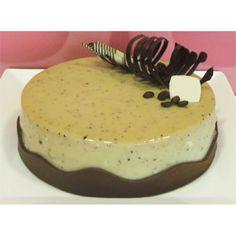 Cappuccino-Caramelia Cake Delivery Cyprus - Milk chocolate with caramel flavour (chocolate Valrhona), coffee crème brûlée and chocolate praline at layer of coffee chocolate sponge.