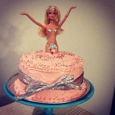 cute bachelorette cake for a barbie girl ; Birthday Cale, Funny Birthday Cakes, Barbie Birthday Party, Birthday Cakes For Men, Barbie Party, Barbie Bachelorette, Whipped Cream Buttercream, Cupcake Cakes, Cupcakes