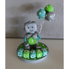Custom Robot Cake Topper for Birthday or Baby Shower by carlyace on Etsy- cute keepsake for baby