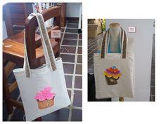 6debeb512 Bolsas hechas de forma artesanal de  hdcospain. La tela es lona  plastificada en color