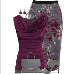 Stylish Work Outfit Ideas for Spring & Summer 2017 - What should I wear to . Stylish Outfit Ideas for Spring & Summer 2017 - What Should I Wear to Work in Spring and Summer? After the autumn and winter seasons we think . Stylish Work Outfits, Classy Outfits, Pretty Outfits, Casual Outfits, Sexy Work Outfit, Stylish Eve, Grey Outfit, Stylish Clothes, Mode Outfits