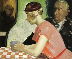 George Benjamin Luks (American, 1867-1933). Cafe Scene - a Study of a Young Woman, Date unknownHeight: 63.5 cm (25 in.), Width: 76.2 cm (30 in.)  Private collection Painting - oil on canvas