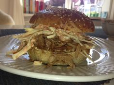 pulled pork burger. coleslaw