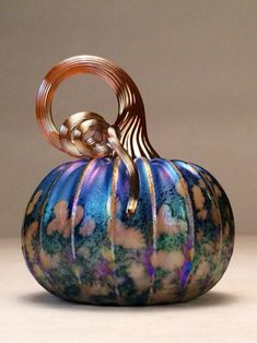 Hey, I found this really awesome Etsy listing at https://www.etsy.com/listing/231083099/jack-pine-hand-blown-glass-pumpkin-small