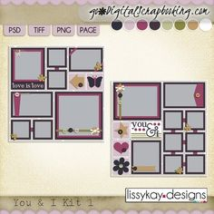 You and I Kit 1 by LissyKay Designs