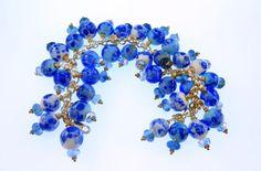 Lampwork Bead Bracelet   'Bonnie Blue' by RoxeMarie on Etsy, $125.00