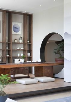 Home Decor Style Modern Chinese Interior, Asian Interior, Home Interior Design, Interior Architecture, Chinese Tea Room, Zen Interiors, Japanese Home Design, Tea Lounge, Dark Home Decor