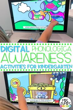 Looking for some digital kindergarten literacy activities to use in your classroom? These digital phonological awareness activities for kindergarten are great to use when teaching remotely, or as kindergarten literacy centers when you are in the classroom.