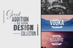 Vintage Logo & Insignia Bundle by TomAnders on @creativemarket