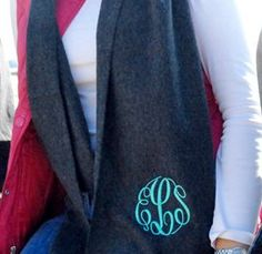 Marley Lily Monogram Scarf. Christmas gift?