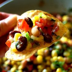 "Cowboy Caviar Recipe ~ is a delicious, healthy bean salsa with corn, jalapenos, cilantro and lime... ""To explain how good this was, my husband and I ate it for breakfast, lunch, dinner, and as a snack for the whole weekend. We polished it off last night."""