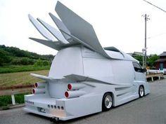 15 Craziest Tuned Cars - A Japanese Gangster Car Strange Cars, Weird Cars, Crazy Cars, Car Photos, Car Pictures, Japanese Gangster, Chevy, Cool Vans, Car Mods