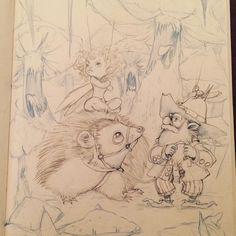 #hedgehog #gnomelife #gnome #fairladyz #fairytales #infectedmushroom #fungus #menzoberranzan #darkwood #fantasyart #conceptart #illustration #drawing #sketchbook #sketches #drinkanddraw #drinkanddrawizmir #dndizmir #tagsforlikes #halfling #adventure #artoftheday