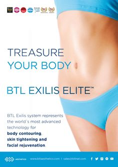 #TreasureYourBody #BTLExilisElite Represents the world's most advanced technology for body contouring, skin tightening and facial rejuvenation.
