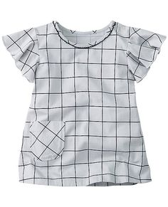 Supersoft cotton jersey tunic is play-perfect with a front pocket plus fluttery sleeves. And it's printed in a 100 year old European mill for super quality. Easy, breezy and cute.  <br>•NEW baby/toddler sizes = a perfect fit for every little one <br>•100% combed cotton jersey <br>•Specially printed in Europe for long-playing colors <br>•Flutter sleeves with purl edge <br>•Hidden snap shoulder placket for easy changes <br>•Front patch pocket <br>•Certified b...