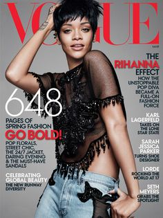 Rihanna Covers Vogue March  Photographed By David Sims