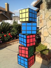 Three Crazy Cousins: DIY Rubix Cubes 80's Theme