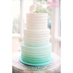"""Community Post: 50 Ombre Wedding Cakes That Are Sexier Than """"Fifty Shades Of Grey"""""""