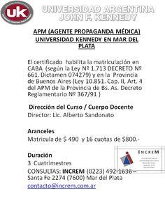 Carrera Agente Propaganda Médica (APM)