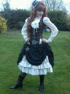 advice on putting together a steampunk outfit -- pic is just one of many she uses as explanation