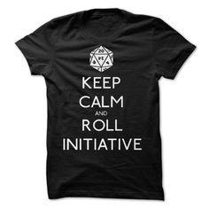 Keep Calm and Roll Initiative T-Shirts, Hoodies. GET IT ==► https://www.sunfrog.com/Valentines/Keep-Calm-and-Roll-Initiative-by-NevermoreShirts-87138628-Guys.html?id=41382