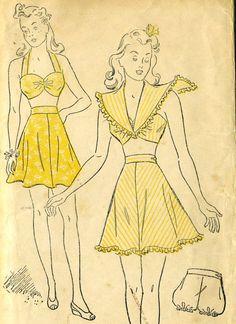 Vintage 40s New York 1617 UNCUT Misses Summer by RomasMaison