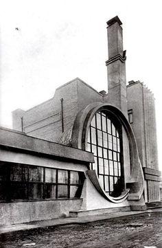 Russia, Moscow, 1936, Gosplan Garage Designed by Melnikov