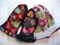 Fru Form: 9/9/07 - 9/16/07 Swedish Embroidery, Crewel Embroidery, Tapestry Crochet, Knit Crochet, Crochet Hats, Mitten Gloves, Mittens, Wrist Warmers, Knitting Charts