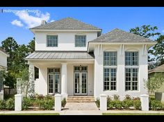 Curb appeal. White exterior Louisiana home