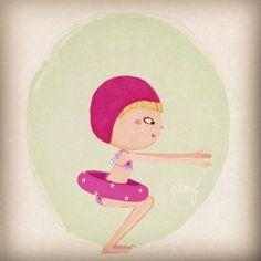 Summer  Illustration by Marine Fleury