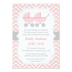 Strollers Twin Woman Child Bathe Invites. *** See more at the photo