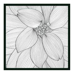 Flor em rabisco