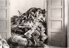 Dachau, Germany, 1945, A room full of corpses.How do you explain a picture like this?