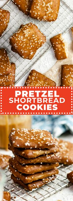 Inspired by the iconic cookies from Philly's Lost Bread Co., these Pretzel Shortbread Cookies are a melt-in-your-mouth mashup that's half pretzel, half shortbread, and unlike anything you've ever tasted. Cookie Recipes, Dessert Recipes, Pretzel Rolls, Peanut Butter Pretzel, Chocolate Cookies, Chocolate Ganache, Soft Pretzels, Cookie Cups, Shortbread Cookies