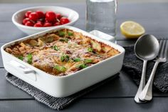 VEGETARLASAGNE MED LINSER OG CHEDDAR   TRINES MATBLOGG Frisk, Cheddar, Macaroni And Cheese, Food And Drink, Ethnic Recipes, Lasagna, Mac And Cheese, Cheddar Cheese