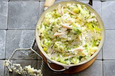 Recipe: Leek mash with cream cheese and chicken - Now that autumn is really a fact, I am looking forward to tasty stews but I wanted to try something - Good Healthy Recipes, Healthy Cooking, Cooking Recipes, I Love Food, Good Food, Potato Dishes, Evening Meals, Winter Food, Quick Easy Meals