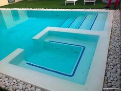 HIDROMASAJE PISCINA Swiming Pool, Luxury Swimming Pools, Small Backyard Pools, Natural Swimming Pools, Luxury Pools, Small Pools, Swimming Pools Backyard, Dream Pools, Swimming Pool Designs