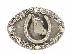 Rhinestone Belt Buckle, Crystal/Silver, N/A, N/A | Dreamtime Creations