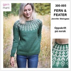 300-005 FERN & FEATHER – NORSK OPPSKRIFT – Garnmani.no