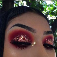 makeup for asian eyes makeup for asian eyes makeup with glasses makeup eyeshadow is eyeshadow makeup for natural makeup makeup tips mac makeup Red Eye Makeup, Makeup Eye Looks, Colorful Eye Makeup, Day Makeup, Glitter Makeup, Cute Makeup, Pretty Makeup, Skin Makeup, Eyeshadow Makeup
