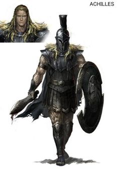 Achilles - Warriors: Legends of Troy Concept Art: