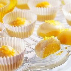 Mini Lemon Cup Candies     I could see using any citrus fruit for these.