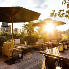 NYC rooftop by Harrison Green Landscaping