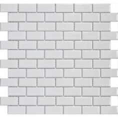 Merola Tile, Metro Subway Glossy White 11-3/4 in. x 11-3/4 in. x 5 mm Porcelain Mosaic Floor and Wall Tile (9.6 sq. ft. / case), FXLMSSW at The Home Depot - Mobile