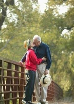 I want to hold your hand   and with you I will grow old.