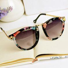 Flora Print Cat Eye Sunglasses