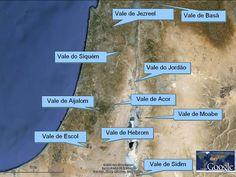 Principais Vales    1)Vale do Jordão 2)Vale de Jesreel 3)Vale de Acor 4)Vale de Aijalom 5)Vale de Escol 6)Vale de Hebrom ou Manre 7)Vale de ...