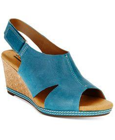 b4fb8e03d5c7 Clarks Collection Women s Helio Float Wedge Open-Toe Sandals   Reviews -  Sandals   Flip Flops - Shoes - Macy s